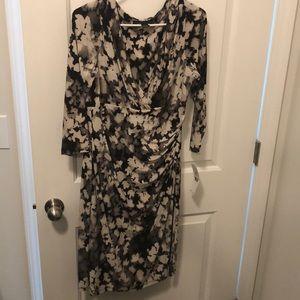 Beautiful floral faux wrap Ralph Lauren dress